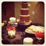 Chocolate fountain at The Gathering Place